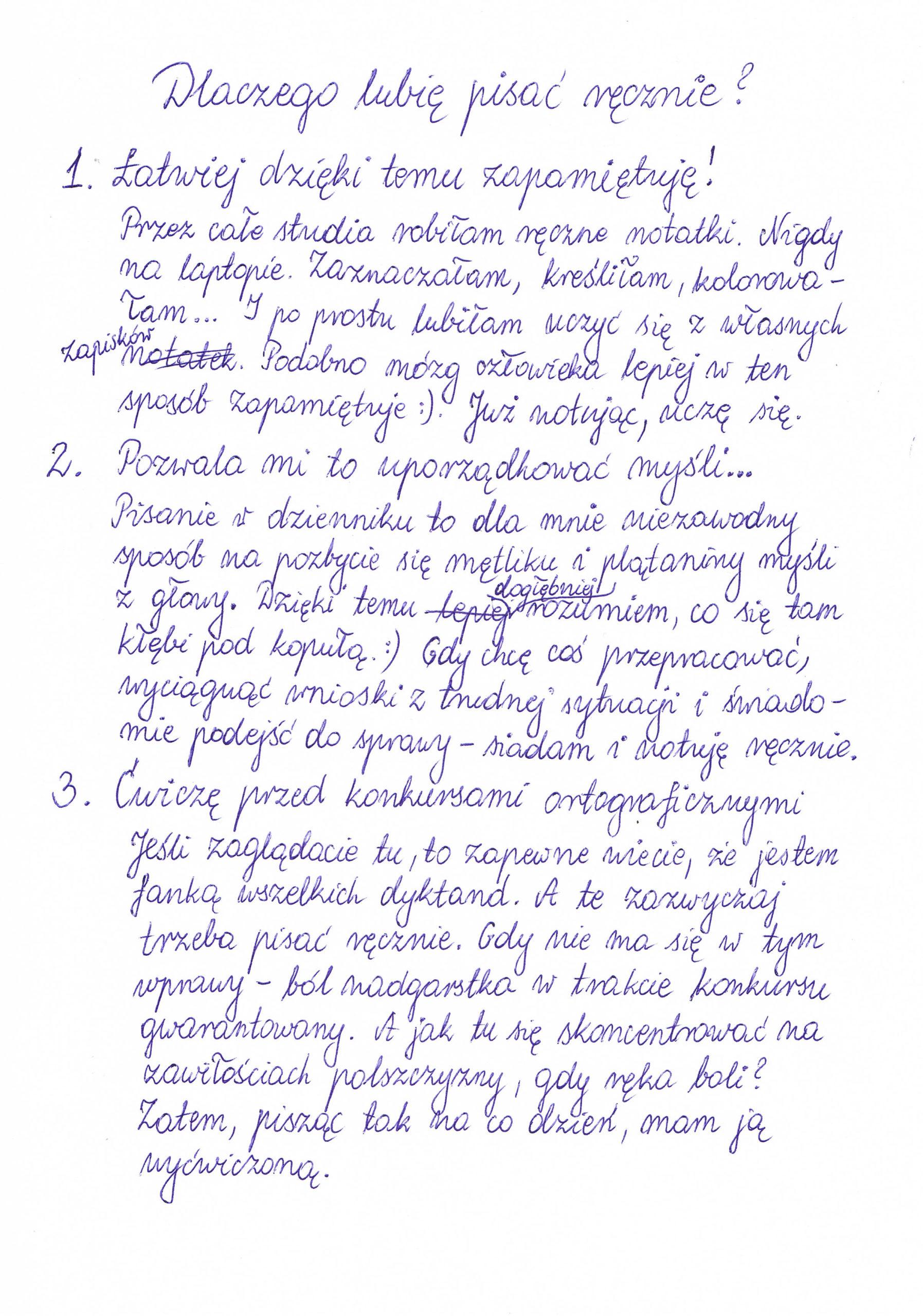 3 powody, dla których lubię pisać ręcznie